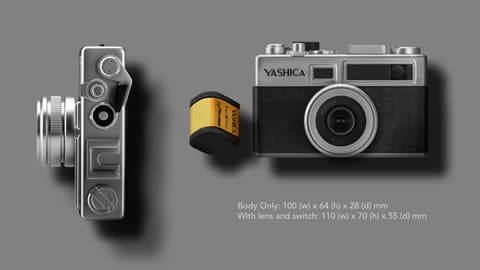 YASHICA、往年の「エレクトロ35」をデジタルで復活 digiFilm Camera Y35