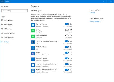 Windows 10 RS4ではスタートアップアプリを「設定」から制御可能に スタートアップされるアプリの設定を「設定→アプリ」に用意