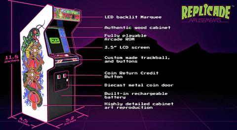 Atari公認のミニチュア「Centipede」筐体、「RepliCade」 RepliCade