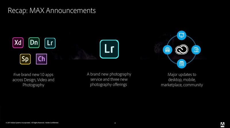 Adobe MAXでの発表の概要、新しいアプリケーションなどCreative Cloudの大規模アップデートが行なわれている