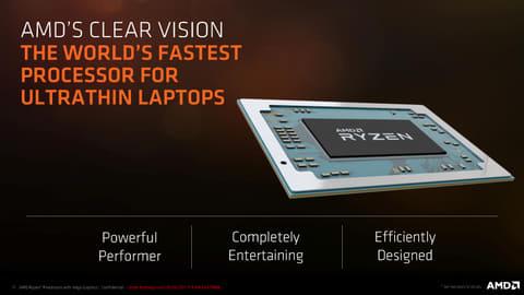 ZEN+Vegaとなった「Ryzen Mobile」ファミリの詳細 新APUをウルトラシンノートPC向けに投入