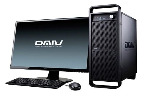 マウス、「Optane SSD 900P」搭載のクリエイター向けPC DAIV-DQX750U1-PS5