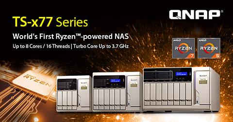 QNAP、8コア/16スレッドRyzen搭載のNAS「TS-x77」 TS-x77シリーズ