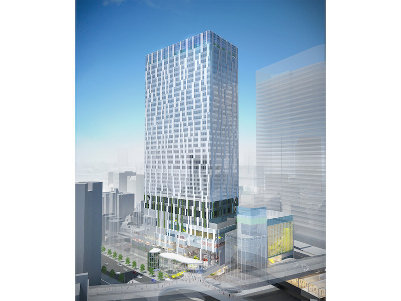 新オフィスが入る「渋谷ストリーム」のイメージ図
