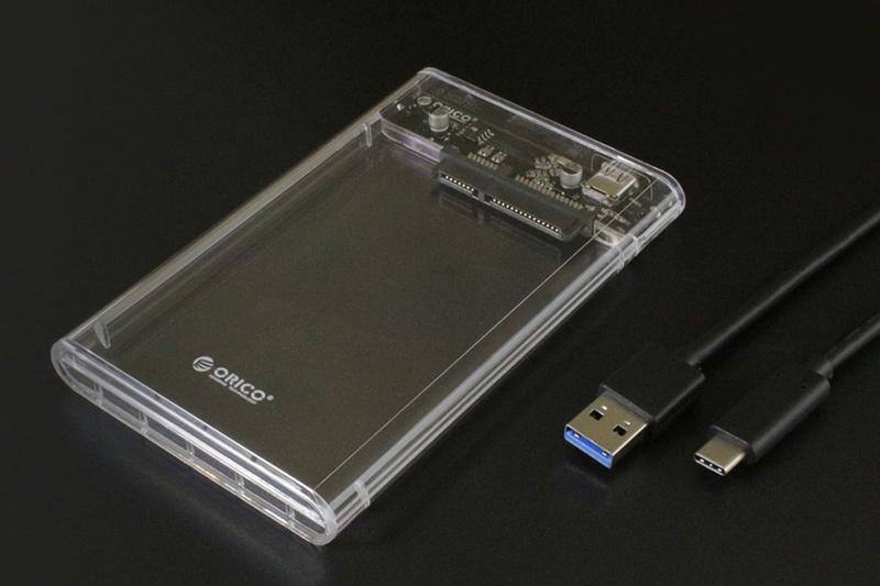 USB 3.1(Gen2) 2.5インチSATAハードディスクケース