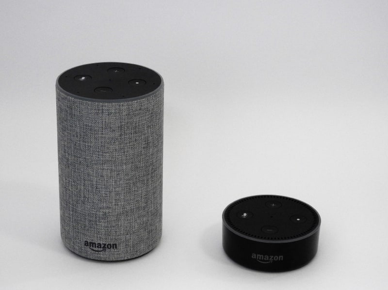 Echo(左)とEcho Dot(右)の比較