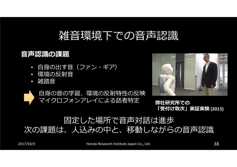 ロボットによる音声認識の課題