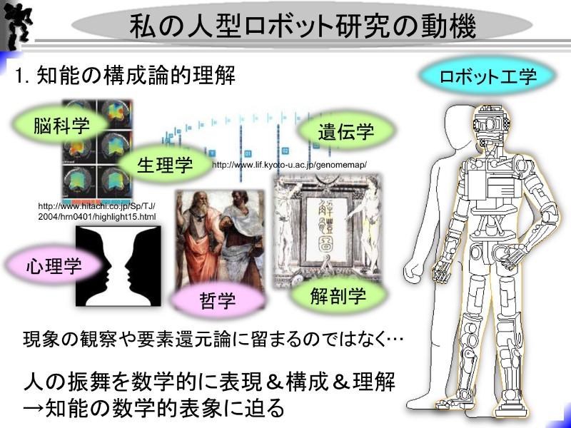 杉原氏の人型ロボット研究の動機