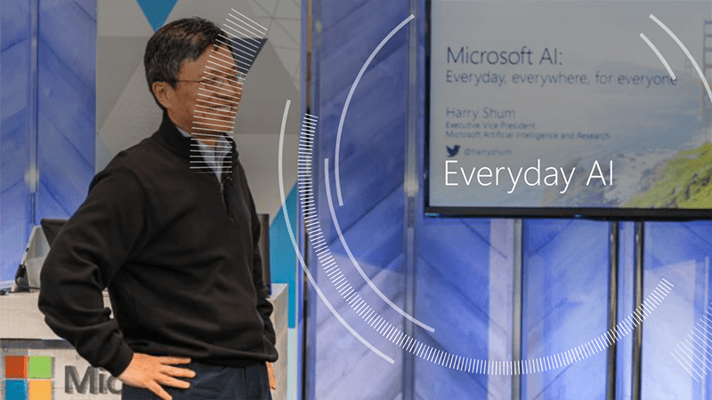 「Everyday AI」を掲げた米MicrosoftのHarry Shum氏(Executive Vice President, AI & Research Group)