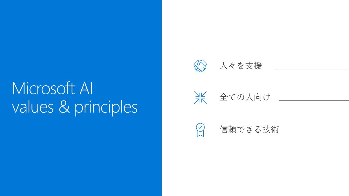 MicrosoftのAI開発理念