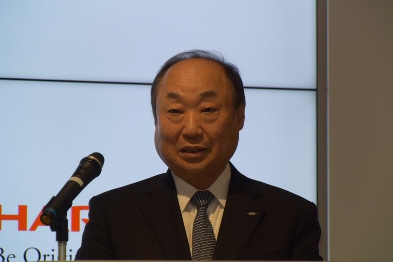シャープ 代表取締役副社長執行役員の野村勝明氏