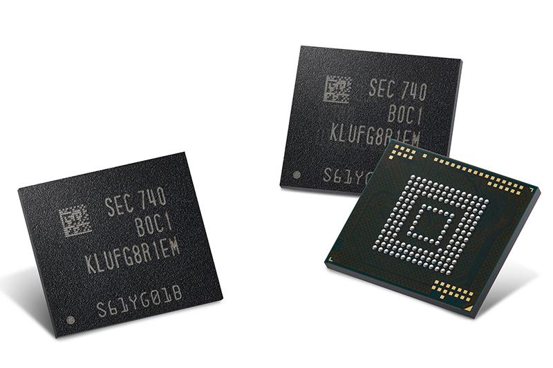 Samsungの512GB eUFSフラッシュ
