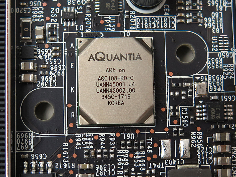 AQUANTIAの5Gigabit Ethernetコントローラ「AQtion AQC108」。筆者が活用できるのはいつの日か……