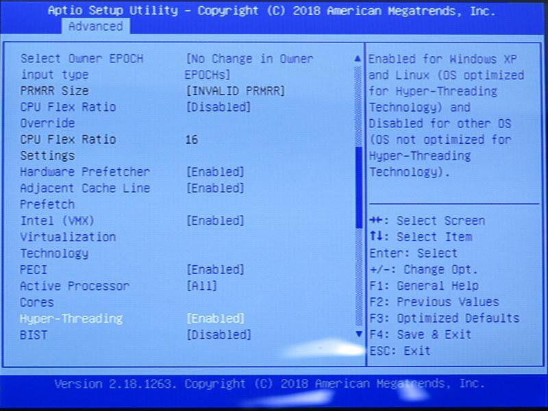 CPUの機能設定。デスクトップ用マザーボードに勝るとも劣らない豊富さ