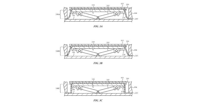 Appleが特許申請したキーボード。