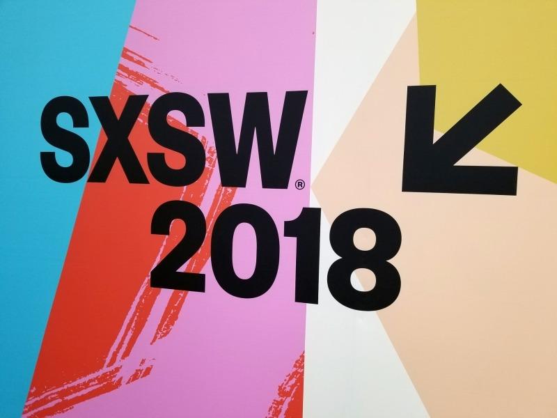 SXSWの看板、一般的なIT系のイベントと違って芸術志向なのは、元々SXSWが音楽祭から発展したものだからだ