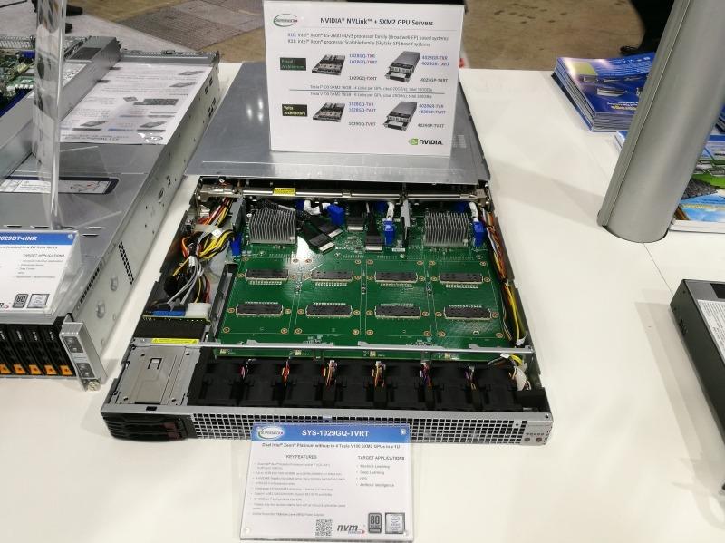 Tesla V100を4基装着できるサーバー、SYS-1029GQ-TVRT