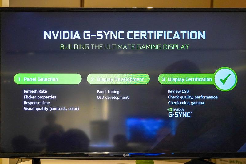 G-SYNC HDRを説明するスライド