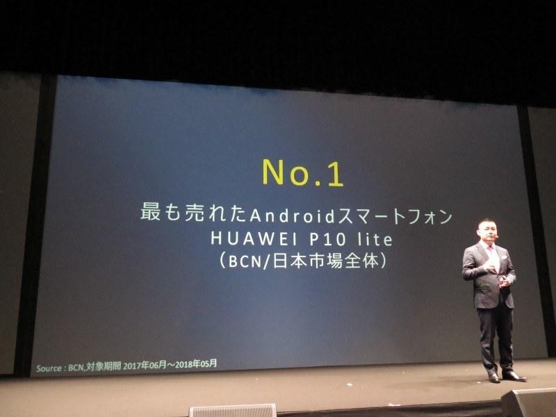 P10 liteは過去1年間日本でもっとも売れたAndroidスマートフォン