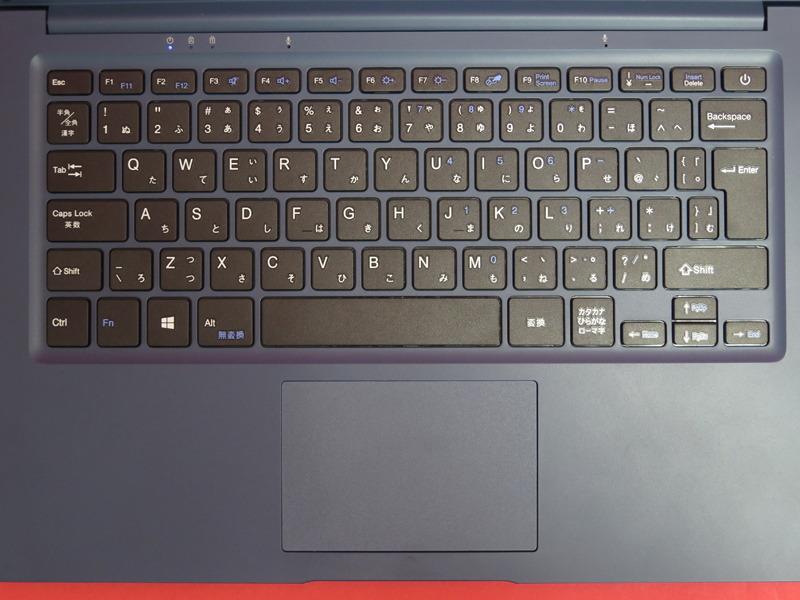 日本語配列となっているが、無変換キーはFnキーを押しながらの動作