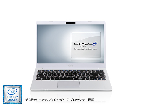 ユニットコム「STYLE-14FH054-i7-UHSS」。税別99,980円~