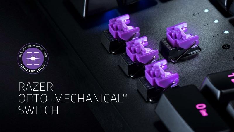その最大の特徴が、新開発の「Razer Opto-Mechanical Switch」(以下オプトメカニカルスイッチ)である