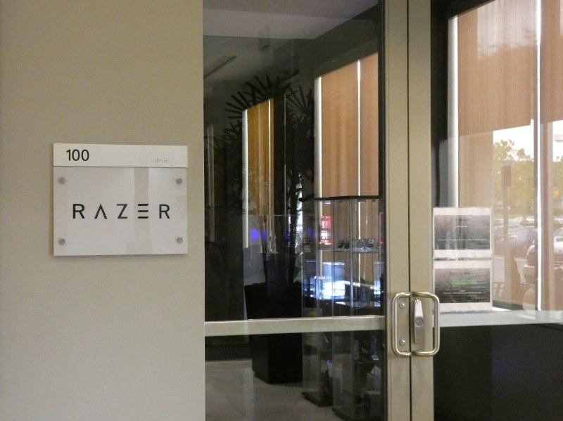 このドアの中がRazerの社内だ