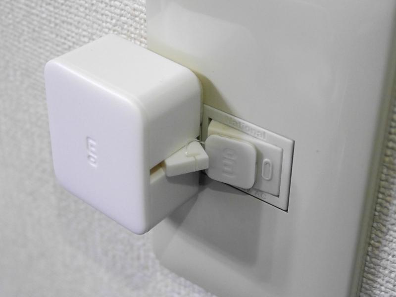 これをシーソー式のスイッチに取り付け、ワイヤーをアームにひっかける