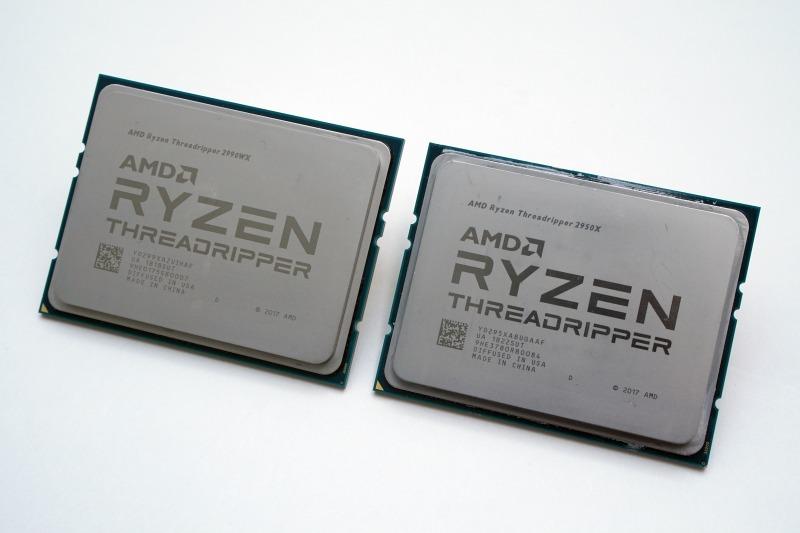 2990WX(左)と2950X