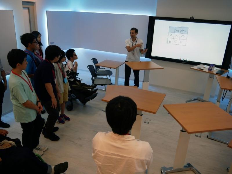 デザインシンキングルームを見学