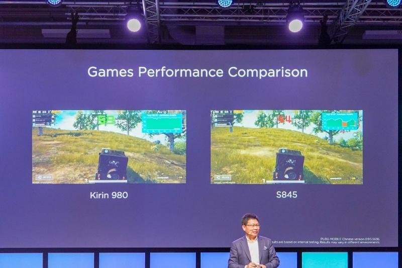 左がKirin 980のフレームレート、右がSnapdragon 845のフレームレート