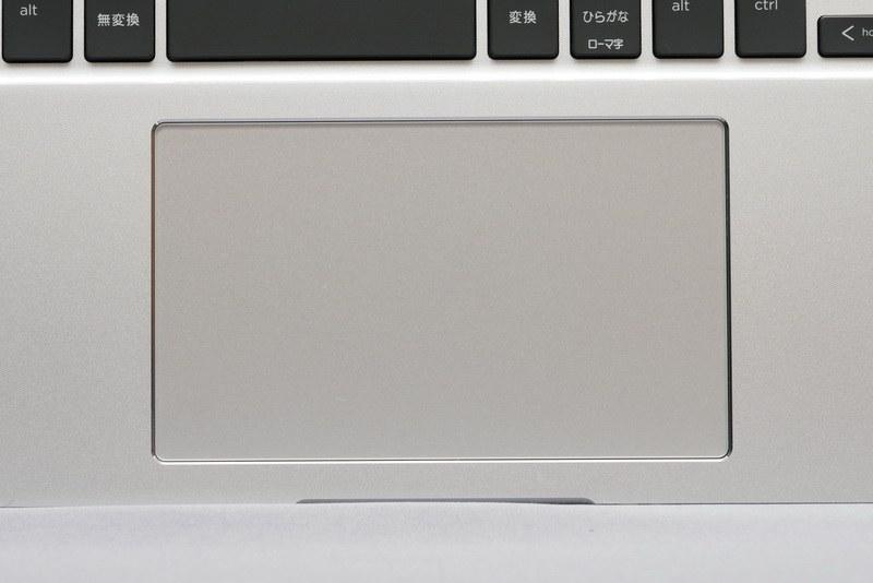 タッチパッドにはNFCリーダライター機能を内蔵し、非接触ICカードによるセキュリティ機能を提供