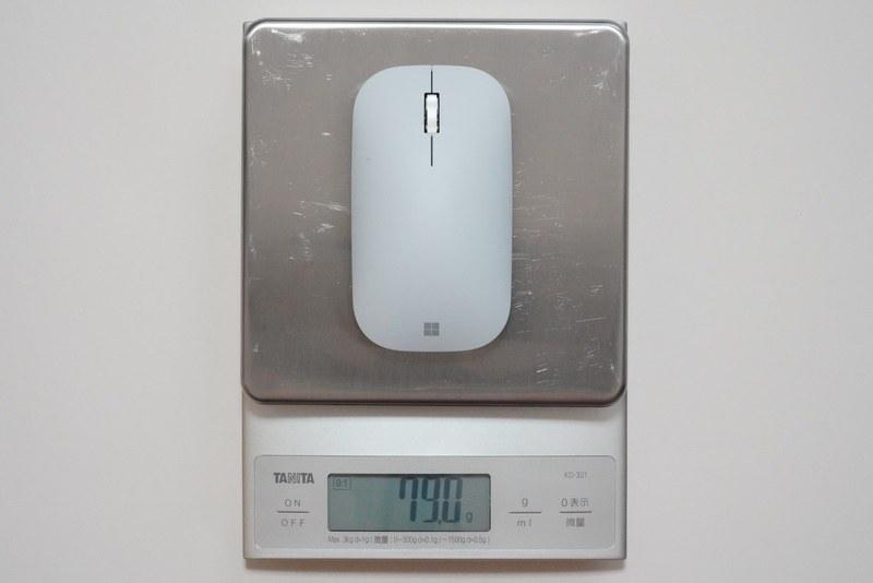 Surfaceモバイルマウスの実測重量は約79g