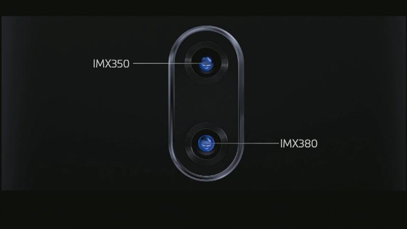背面カメラはメインがIMX380、サブがIMX350