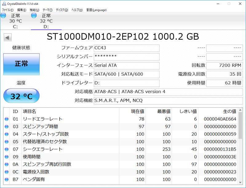 Dドライブはたくさんのゲームデータを保存できコストも安いHDD。とはいえシーケンシャルなら200MB/sを超える