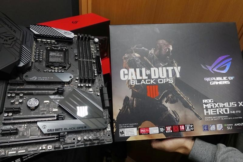 ※ここで掲載しているROG MAXIMUS XI HEROの実機写真は日本では発売未定の「Call of Duty: Black Ops 4」とコラボレーションしたモデル