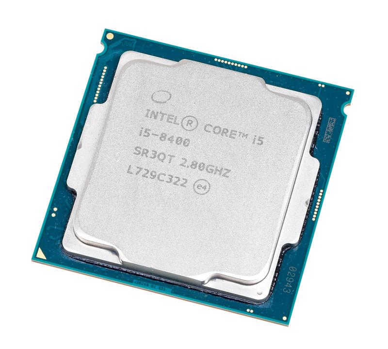 Core i5-8400。Core i5の中では最下位クラスのモデルだが、6コア6スレッドでマルチスレッド性能にも優れる。Core i3の上位モデルと変わらない2万円ちょっとの価格で買える手頃さも魅力
