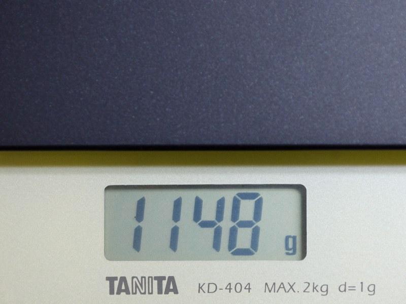 重量は実測で1,148g