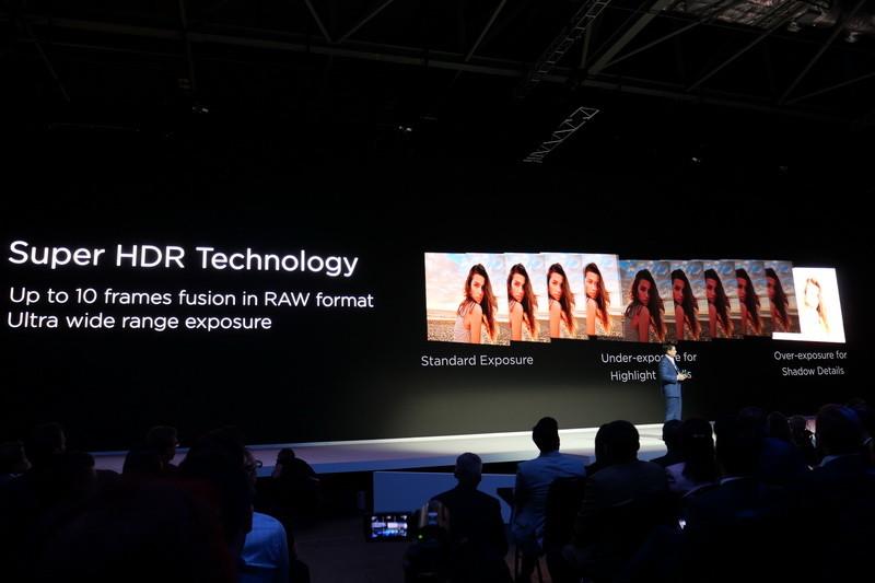 1回のシャッターで最大10枚のRAWデータを取得し、広大なミックレンジを得る「Super HDR Technology」