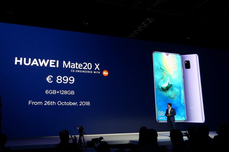 Mate 20 XはRAM 6GB/内蔵ストレージ128GBで899ユーロ、10月26日より販売