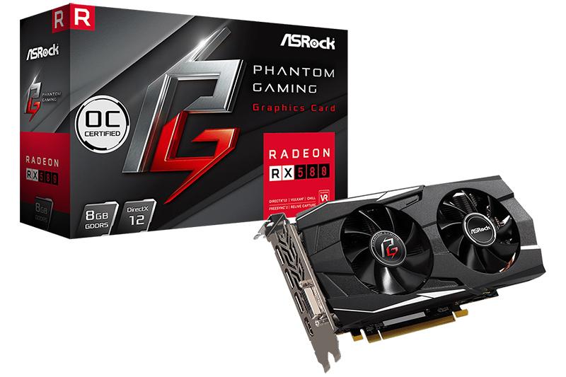 Phantom Gaming D Radeon RX580 8G OC
