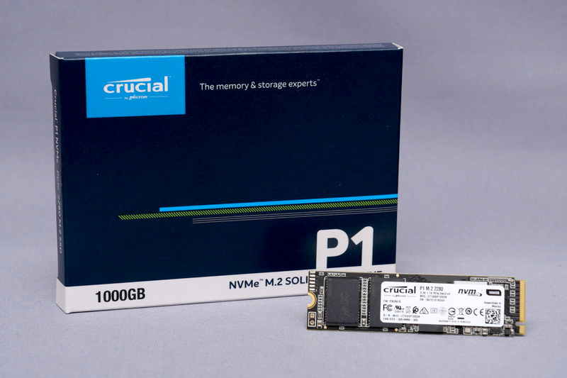Micron初のPCIe/NVMe SSD「Crucial P1」
