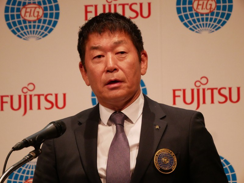 国際体操連盟の渡辺守成会長