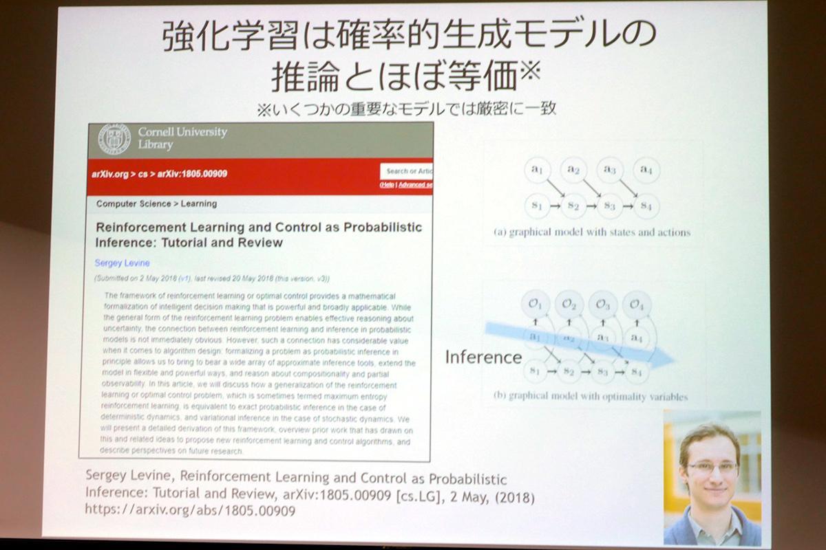 強化学習と確率的生成モデルの推論とほぼ等価であることが示されている