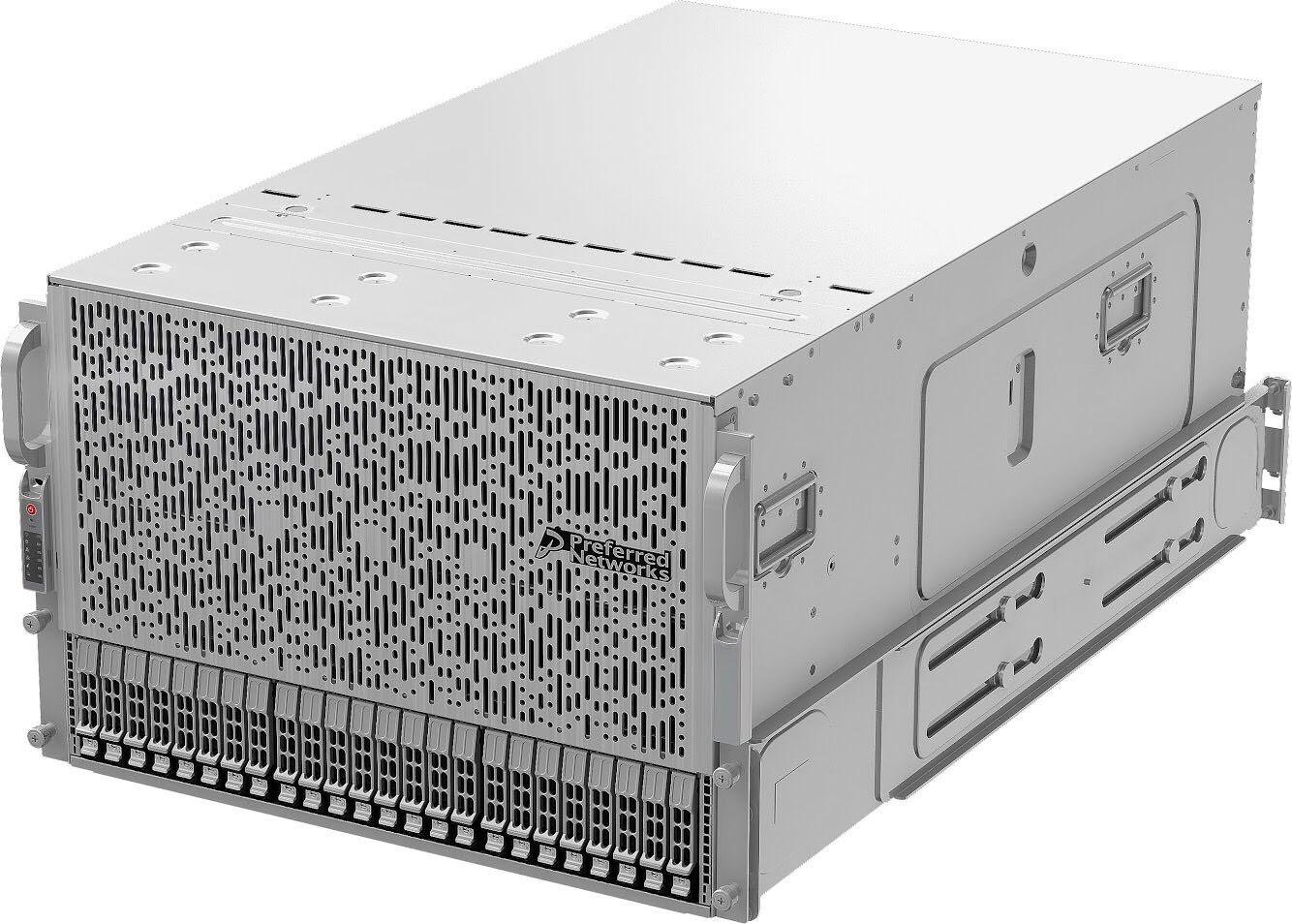 7Uサイズのサーバー。4枚のMN-Coreボードを搭載できる