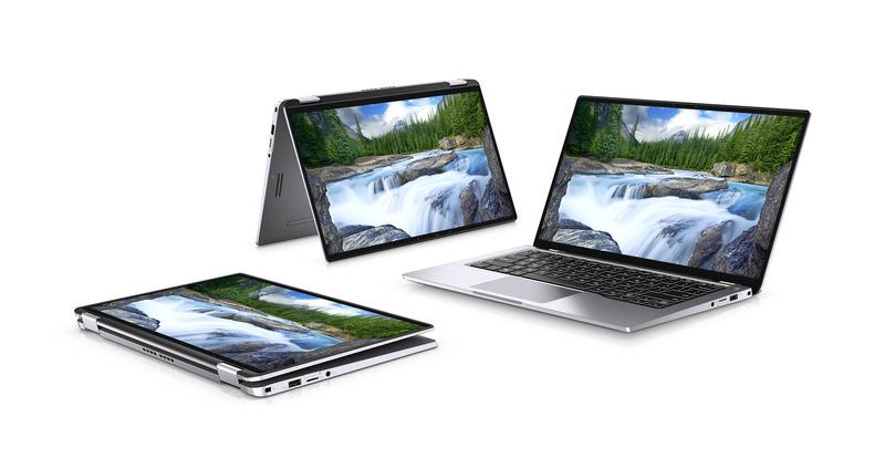 Dellが発表したLatitude 7400 2-in-1。14型液晶ディスプレイを13.3型サイズの底面積に納めた2in1デバイス