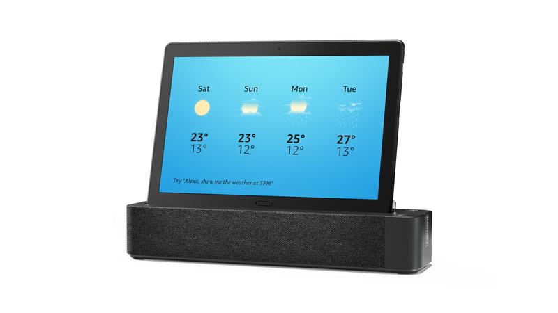 付属のLenovo Smart Dockに装着すると、Showモードに切り替わり、Alexaスマートスクリーンとして利用可能となる