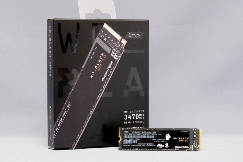 Western Digital「WD Black SN750 NVMe SSD」 1TBモデル