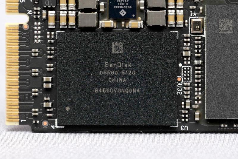 NANDフラッシュメモリも、従来モデル同様に四日市工場で製造されている64層3D NAND(BiCS3)を採用している