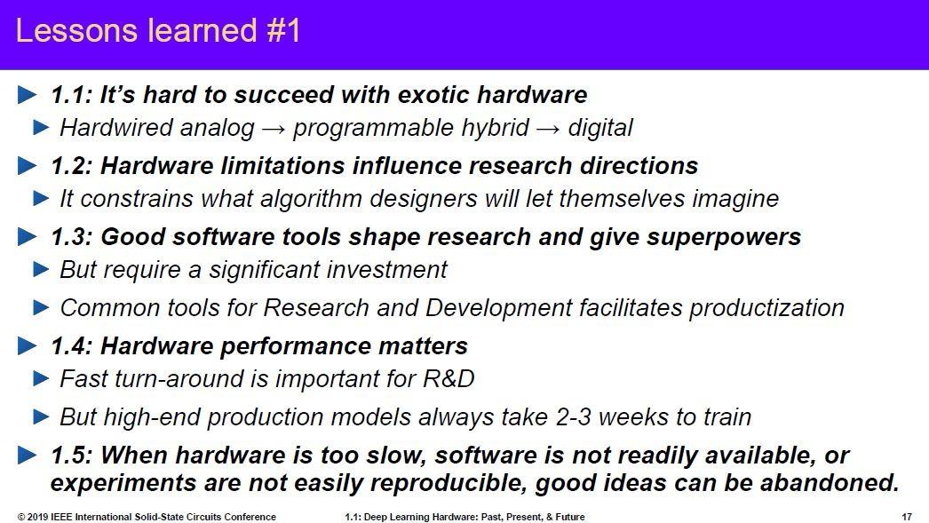 ハードウェアと機械学習の関係。Yann LeCun氏の講演スライドから